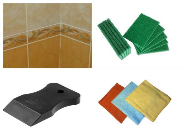 Попробуйте удалить затвердевший клей резиновым шпателем, жесткой губкой или тряпкой из микрофибры