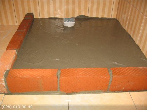 Укладка плитки на пол, на фанеру
