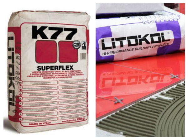 Клеи на цементной основе - Superflex и Litokol