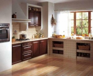 Как обустроить кухню: керамические напольные покрытия