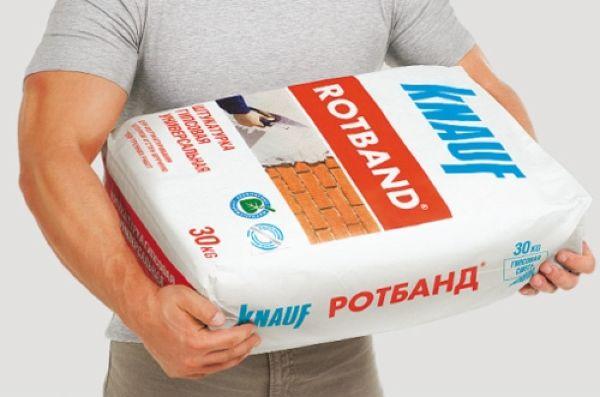 Сухая универсальная штукатурная смесь Кнауф Ротбанд