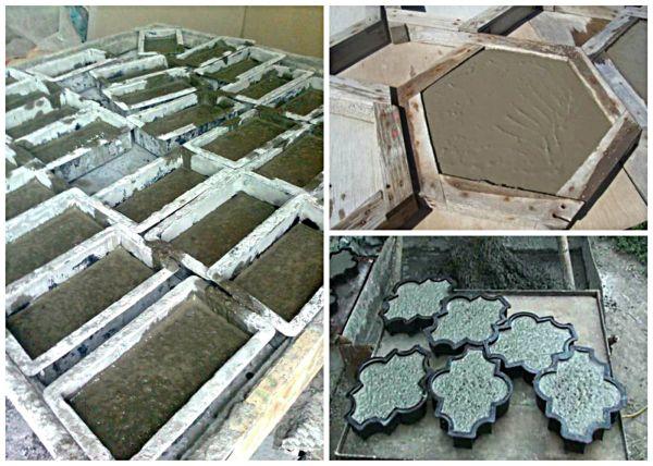Качество изготавливаемой тротуарной плитки зависит от соблюдения рецептуры раствора