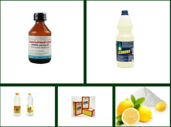 Для чистки можно использовать самые обычные домашние средства