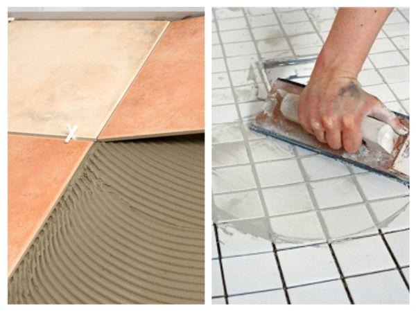 Завершающий этап укладки плитки - затирка и герметизация швов