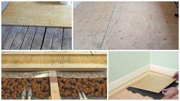 Подготовка деревянного покрытия к укладке плитки