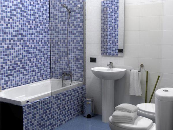 Плитка мозаика в интерьере ванной комнаты
