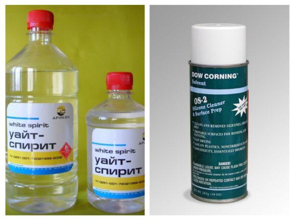 Применение уайт-спирита и Dow Corning OS-2 для удаления герметика