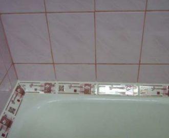 Надёжная и эстетичная стыковка ванны с плиткой