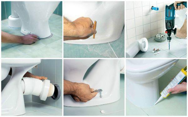 Главной особенностью при монтаже унитаза является герметизация и качественная изоляция стыков труб