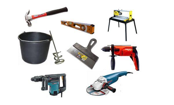 Для облицовочных работ требуется набор инструментов