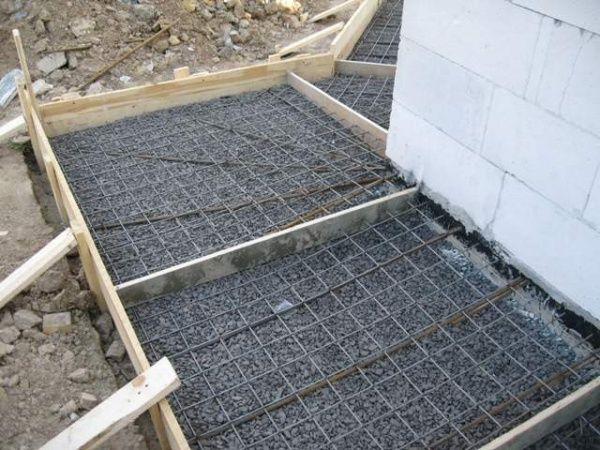 Армирование бетонной подушки