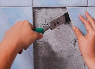 Точечный ремонт облицованной керамикой поверхности