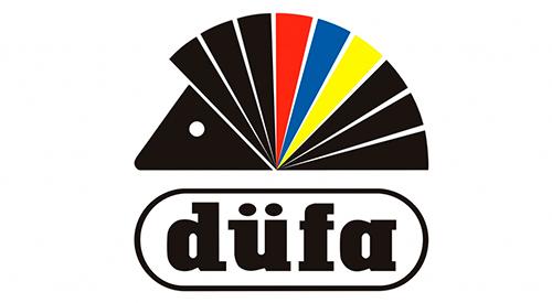 Логотип компании-производителя лаков и краски Dufa
