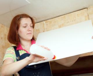 Выбор клея для потолочной плитки