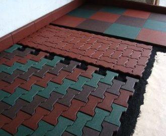 Технология монтажа резиновой плитки