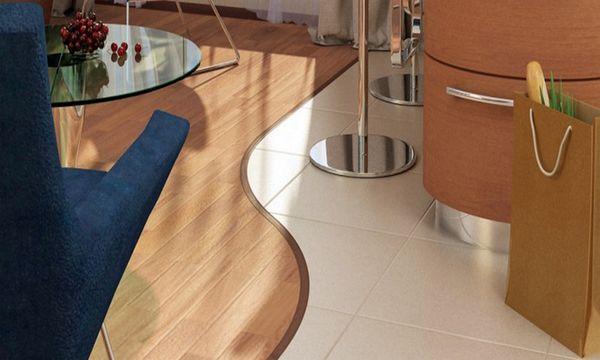 Ламинат и плитка дизайн