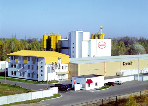 Завод производителя стройматериалов Ceresit