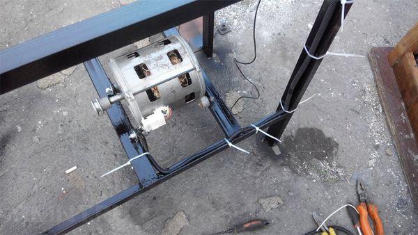 установка электродвигателя