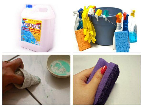 Чем отмыть грунтовку с керамогранита