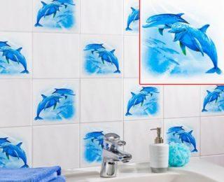 Наклейки на плитку из кафеля – отличный способ обновить интерьер в ванной и кухне