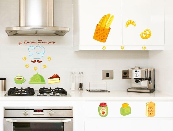 стикеры с изображением кухонных приборов и посуды