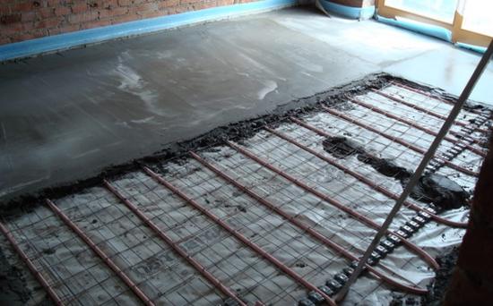 Теплый пол водяной своими руками с укладкой плитки