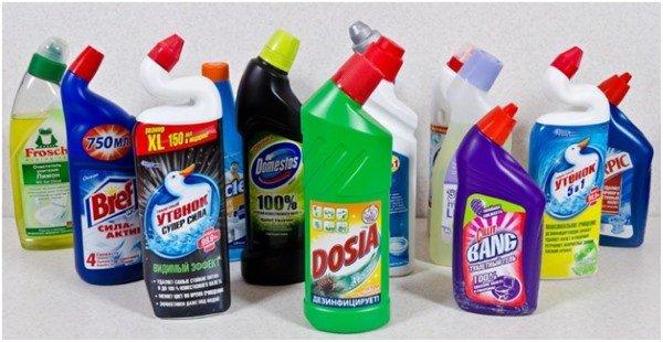 Очистка напольной затирки средствами бытовой химии