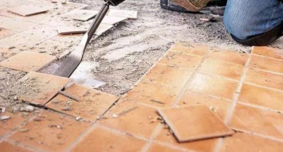 покрытие на цементном растворе из плиток