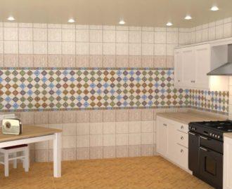 Как рассчитать потребность в плитке  для настенной отделки кухни